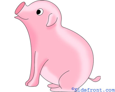 pig drawing - Images For Kids Drawing