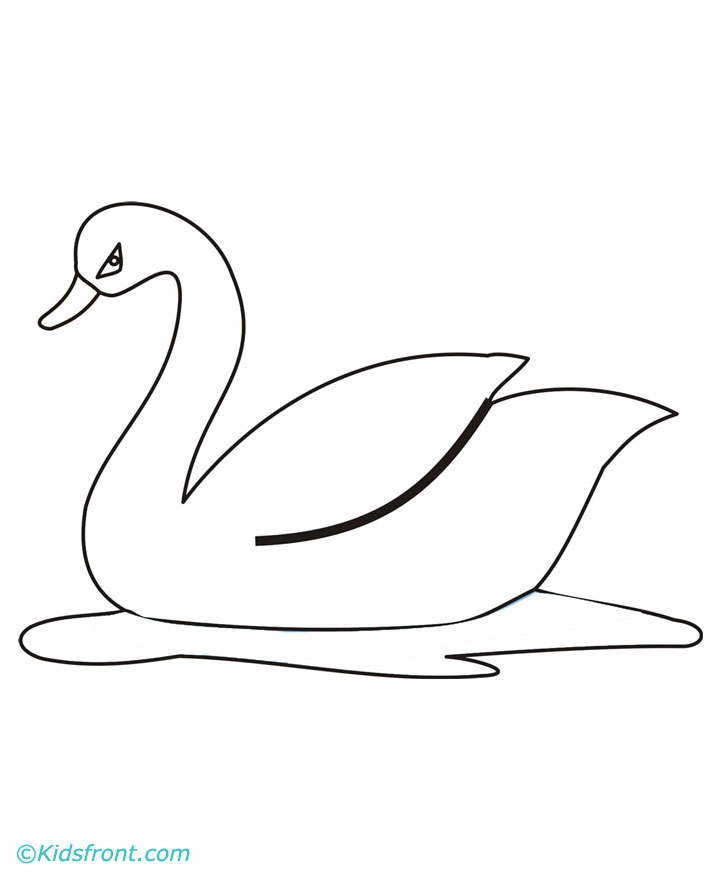 free swan coloring pages - photo#30