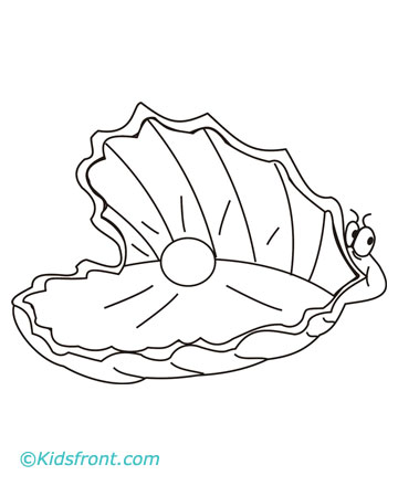 Clam free coloring pages for Clam coloring page