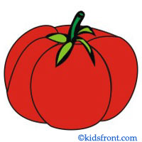 Vegetables on Missing Numbers Clipart